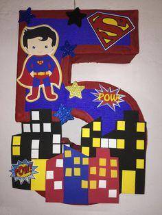 Iron Man Birthday, Superhero Birthday Party, 3rd Birthday, Birthday Parties, Birthday Party Decorations Diy, Halloween Party Themes, Diy Piñata, Mexican Pinata, Wonder Woman Party