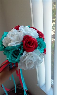 aqua and red weddings | Turquoise and Red Wedding decorations!