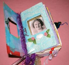 Altered Book Scrapbook Grandma Hilda