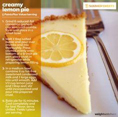 Weight watchers creamy lemon pie