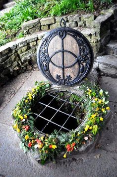 The Chalice Well, Glastonbury, England ~Archaeological evidence suggests that the well has been in almost constant use for at least two thousand years. Water issues from the spring at a rate of 25,000 gallons per day and has never failed, even during drought. The water is believed to possess healing qualities.