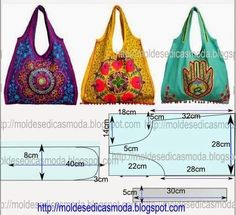 Materiales gráficos Gaby: 5 Modelos de bolsos multiusos con moldes y costuras