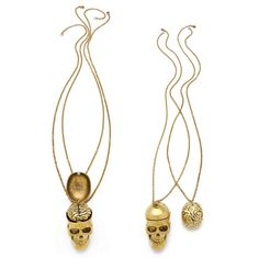 Skull And Brain Best Friend Necklaces