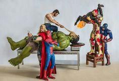 Work of Edy Hardjo  (Atencion to Thor's selfie with spider man)