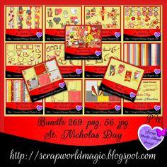 Scrap World Magic Design: St. Digital Scrapbooking Freebies, St Nicholas Day, Magic Design, Kit, Html, Character, Lettering