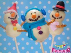 Snowman cake pops. Love them!