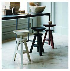 Three legged wind up stools