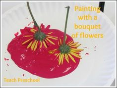 Painting with a bouquet of flowers by Teach Preschool