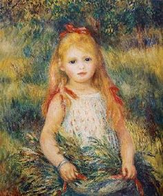 Pierre-Auguste Renoir - Little Girl Carrying Flowers, or The Little Gleaner