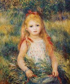 Pierre-Auguste Renoir - Little Girl Carrying Flowers, or The Little Gleaner
