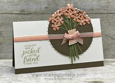 Card made with Beautiful Bouquet Stamp Set and Framelits by Stampin Up 2