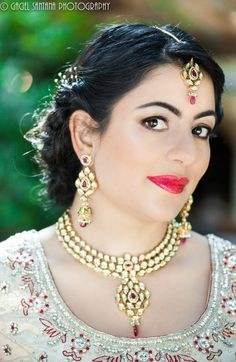 indian wedding necklace long earrings matha patti by Belsi's Collection. Buy here - http://www.indianweddingsite.com/dazzling-jewelry-fashion-shoot-featured-vendor-belsis-collection/