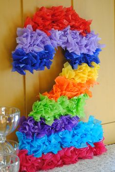 DIGIT PINATA-inspired birthday Number or Initial Two digit Sweet sixteen Ten - not an actual pinata Wiggles Birthday, Care Bear Birthday, Wiggles Party, Care Bear Party, Trolls Birthday Party, 3rd Birthday Parties, Birthday Party Decorations, 2nd Birthday, Birthday Ideas