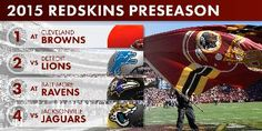 Redskins Release 2015 Preseason Schedule
