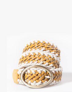 Cinturón trenzado bimateria