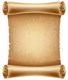 Old Scrolled Paper PNG Clipart Image