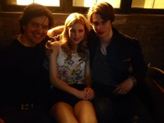 Celebrity Nicholas Galitzine is enjoying some time with his co-star, balerina Keenan Kampa  and the director of High Strung, Michael Damian.