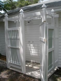 arbor outdoor shower (must have at a beach house) - tomorrows adventures