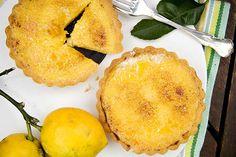 Caramelised citrus tartlets