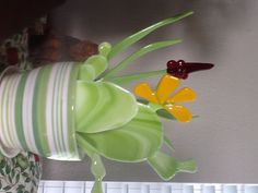 Stained Glass Crafts, Stained Glass Patterns, Glass Garden, Garden Art, My Glass, Glass Art, Glass Cactus, Glass Fusing Projects, Plant Crafts