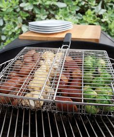 Another great find on #zulily! Stainless Steel Four-Compartment Grilling Basket #zulilyfinds