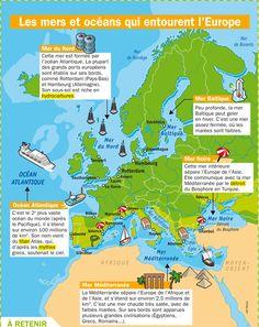 Les mers et océans qui entourent l'Europe