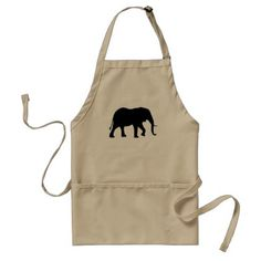 African Elephant Silhouette Adult Apron - decor gifts diy home & living cyo giftidea