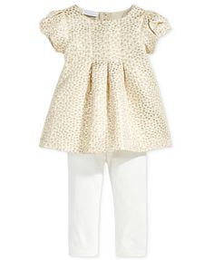 First Impressions Baby Girls' 2-Pc. Metallic Jacquard Tunic & Leggings Set, Only at Macy's | macys.com