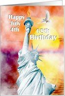 Birthday / July 4th Birthday ~ Age Specific 68th ~ Statue Of Liberty Card by Greeting Card Universe. $3.00. 5 x 7 inch premium quality folded paper greeting card. Find birthday cards for everyone on your list at Greeting Card Universe. Send a paper card to your friends and family this year. Turn to Greeting Card Universe for all your birthday card needs. This paper card includes the following themes: Madeline M Allen, SmudgeArt, and Digital-Art. Age Specific cards from Gre...