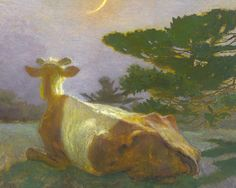"""""""And-the-Cow-Jumped"""" Jamie Wyeth"""