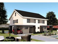 Finesse 110 - #Doppelhaus von Bau Braune Inh. Sven Lehner | HausXXL #Massivhaus #Energiesparhaus #Nullenergiehaus #modern #Satteldach
