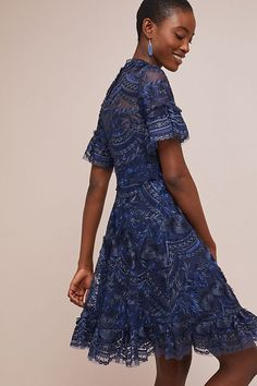 Slide View: 2: Shoshanna Blanche Embroidered Dress Short Sleeve Dresses, Dresses With Sleeves, Anthropologie, Casual, Dance, Shopping, Fashion, Dancing, Moda