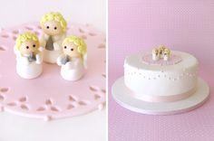 Christening Cake - Angle