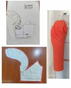 Sleeve pattern alteration that will create a lovely draping effect when sewn with pleats. Sleeve pattern alteration that will create a lovely draping effect when sewn with pleats. No automatic alt text available. 27 elegant photo of custom sewing patterns Techniques Couture, Sewing Techniques, Pattern Cutting, Pattern Making, Dress Sewing Patterns, Clothing Patterns, Frock Patterns, Sewing Hacks, Sewing Tutorials