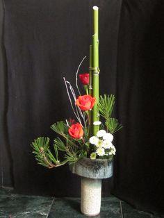 Orchids and Ikebana; news year arrangement