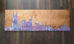 """Nashville"" Painting on wood. 16""x48"" Sold."