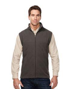 Polar fleece men's vest with slash zipper pockets. Tri mountain F8358 #vest #slashpockets #trimountain