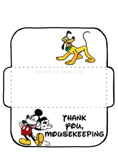 My own MouseKeeping envelope, based on a design found here… Disney 2017, Disney Tips, Disney Cruise, Disney Vacations, Disney Parks, Walt Disney World, Disneyland Ca, Bay Lake, Disney World Planning