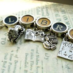 librarian Charm Bracelet- I love the letters, not so much the charms