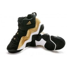 41ad79273bf Best Adidas Top Ten 2000 Mens Basketball Shoes - Black White Gold  67.90