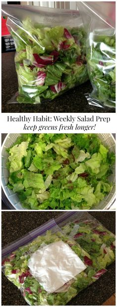 How I get myself to eat more salads! My weekly salad prep saves time in the long run, makes it convenient and the best part, keep my salad greens FRESH!:
