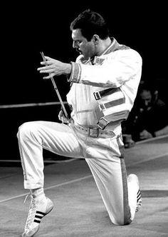 Queen freddie mercury pose live on stage Queen Band, John Deacon, Freddie Mercuri, Montreux Jazz Festival, Roger Taylor, Queen News, We Will Rock You, Queen Freddie Mercury, Freddie Mercury Quotes