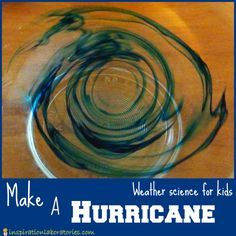 Make a Hurricane using items you have in your kitchen! Fun and easy way to teach kids about this powerful weather element