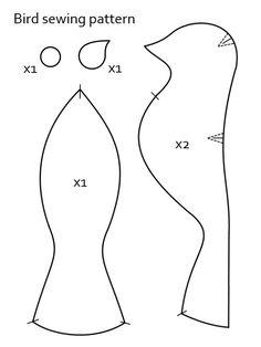 Bird sewing pattern by NekoPandaPlushies on DeviantArt