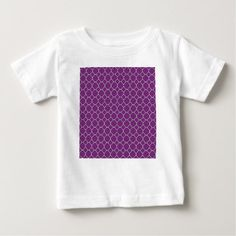 Purple Clover Pattern Baby T-Shirt - stylish gifts unique cool diy customize