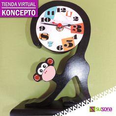 #TiendaVirtual Koncepto relojes y figuras en madera. Compra en SUZONA.com