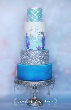 1 tier on my cake Like the mermaid scene but better??