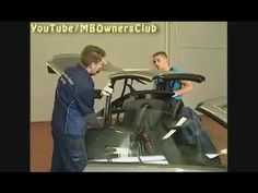 Mercedes Benz SLK | Manually close Vario roof - YouTube