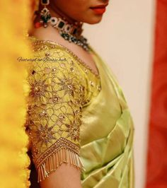 Cutwork Blouse Designs, Wedding Saree Blouse Designs, Pattu Saree Blouse Designs, Fancy Blouse Designs, Wedding Sarees, Sleeves Designs For Dresses, Stylish Blouse Design, Designer Blouse Patterns, New Blue