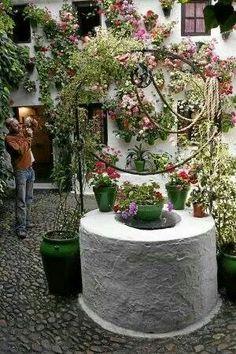Pozo en patio andaluz